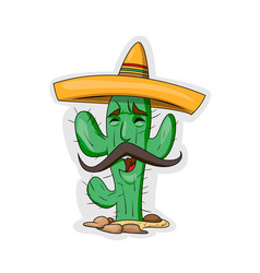 Cartoon cactus character vector