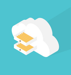 cloud computing storage data concept flat design vector image