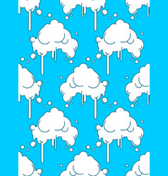 cloud seamless pattern sky background abstract vector image
