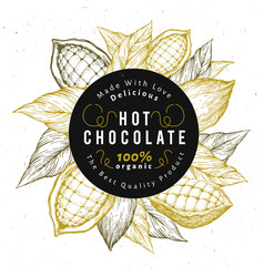 cocoa bean tree design template chocolate vector image
