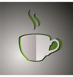 cup tea cup logo tea vector image