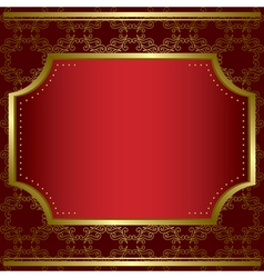 decorative card with center gold frame vector image