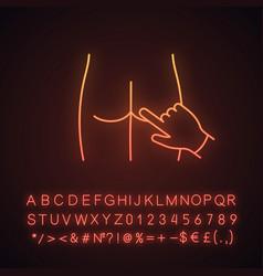 digital rectal exam neon light icon vector image
