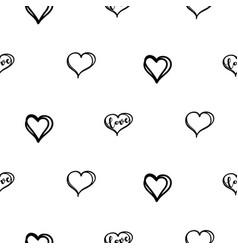 Doodle heart seamless doodle texture vector