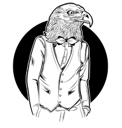 Eagle Man Hipster Style vector
