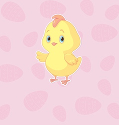 Easter chicken vector image