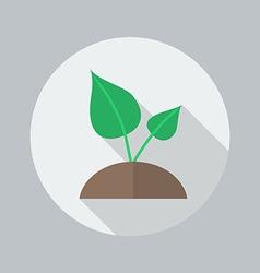 Eco Flat Icon Plant vector