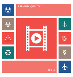 film strip with play elements for your design vector image