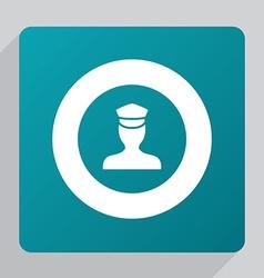 flat policeman icon vector image