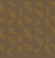 foliate seamless pattern vector image