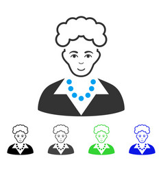 Gladness blonde lady icon vector