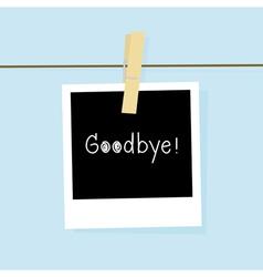 Good bye card vector image