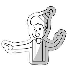 Guy dance celebrate funny vector
