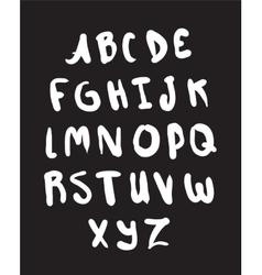 Hand drawn alphabet Letters set vector