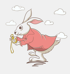 Hare from wonderland vector