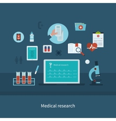 Health care and medical research vector image vector image