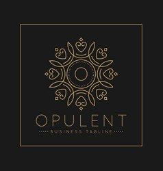 Letter o logo with classic and luxurious line art vector