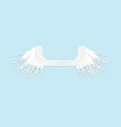 Line art of angel wings and tape vintage for st vector
