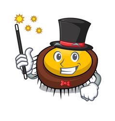 Magician sea urchin mascot cartoon vector