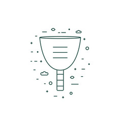 menstrual cup thin line icon in line art vector image