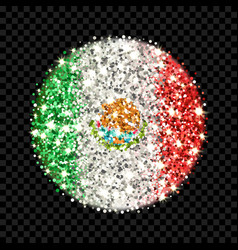 mexico flag sparkling badge vector image