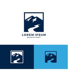mount creek logo icon download vector image