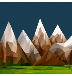Mountainous terrain polygonal background vector image