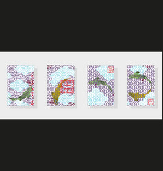 national pattern multi-colored fish scales vector image