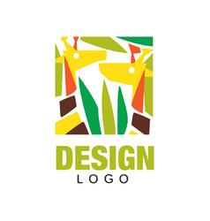Original african animals logo design template vector
