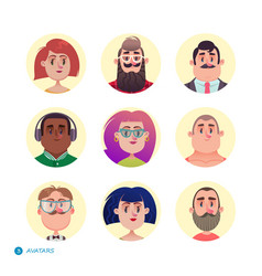 People avatars collection vector