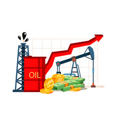 petroleum cost inflation financial literacy vector image