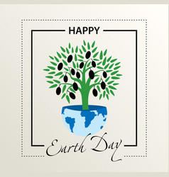 postcard congratulations on the earth day vector image