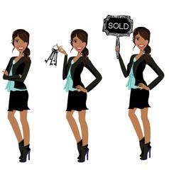 Real estate agent - realtor - broker vector