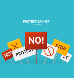 realistic 3d detailed protest concept banner card vector image