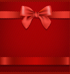 Red background with bow vector