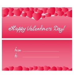 Red hearts card Valentines Day Mothers Day vector