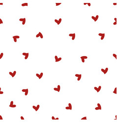 red mini heart seamless pattern vector image