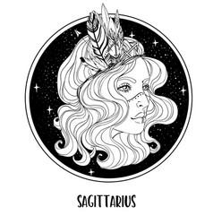sagittarius astrological sign as a vector image