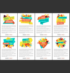 sale and discount banners set for autumn season vector image