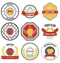 Set of Mixed Martial Arts labels badges vector image