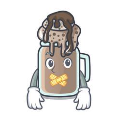 Silent milkshake mascot cartoon style vector