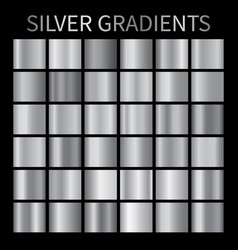 Silver metal gradient backgrounds chrome vector