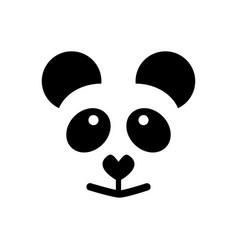 simple sign panda logo vector image