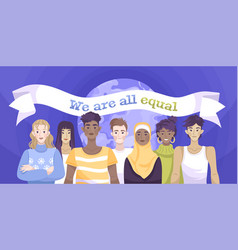 social justice racism flat composition vector image