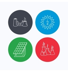 Solar collector energy factory and industries vector