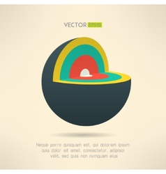 Sphere section icon in colorful design Circle vector