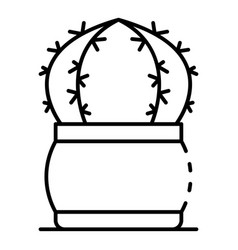 spike cactus icon outline style vector image