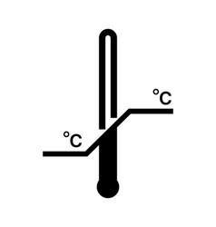 Storage temperature range isolated black symbol vector