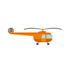 Transport helicopter icon flat style vector