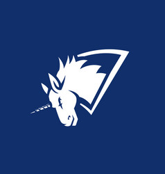 Unicorn logo vector